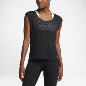 Nike Casual Sleeveless Solid Women's Black Top