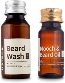 Ustraa Beard Oil 4X4 + Beard Wash(Set of 2)