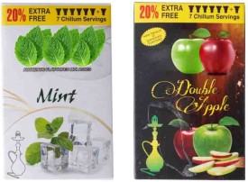 Asraw Mint & Double Apple Assorted Hookah Flavor(120 g, Pack of 2)