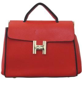 Heels & Handles Women Red PU Satchel