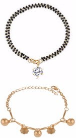 ArchiCollection Alloy Yellow Gold Bracelet Set(Pack of 2)