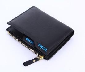 SPL Men Black Artificial Leather Wallet(7 Card Slots)