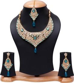 Jewels Gold Alloy Jewel Set(Multicolor)