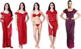 Keoti Women Nighty with Robe(Multicolor)