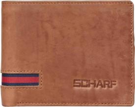 Scharf Men Tan Genuine Leather Wallet(9 Card Slots)