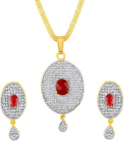 KASHVI Fashionable Rhodium Brass Pendant