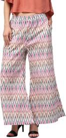 Libas Regular Fit Women's Multicolor Trousers
