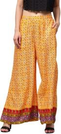 Libas Regular Fit Women's Yellow Trousers