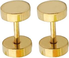 Shiv Jagdamba Round Barbell Dumbells Piercing Combo (1 Pairs) SEr005014 Stainless Steel Stud Earring