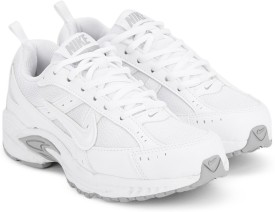 Nike Boys & Girls Lace Running Shoes(White)