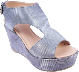SWANSIND Women GREY Wedges