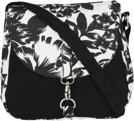 Vivinkaa Women Black Canvas Sling Bag