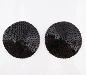 Kaamastra Polyester Peel and Stick Bra Petals(Black Pack of 2)