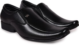 Arthur Men's Black PU Formal Slip On(Black)