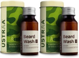 Ustraa Beard Wash (Woody) - Set of 2(60 ml)