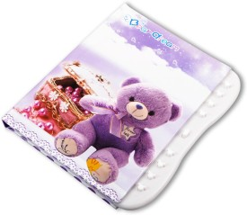 COI A6 Diary(Cute Purple teddy diary/ Organiser with lock for kids, Purple)