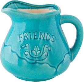 Chumbak Friends I Earthenware Vase(8 inch, Blue)