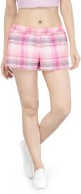 KOTTY Checkered Women Multicolor Night Shorts