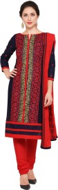 Ishin Cotton Embroidered Salwar Suit Dupatta Material(Un-stitched)