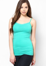 ONLY Casual Sleeveless Solid Women Green Top