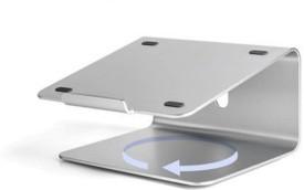 Mobilegear 360° Rotating Anti Skid Adjustable Aluminum Holder Laptop Stand(Silver)