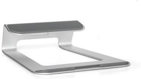 """Mobilegear Docking Station Anti-Skid 15"""" Portable Aluminum Premium Holder for MacBook iPad & Others Laptop Stand(Silver)"""