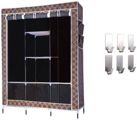 onlyimported.com Premium Carbon Steel Collapsible Wardrobe(Finish Color - BLACK)
