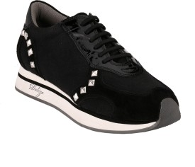 Delize Synthetic Walking Shoes(Black)