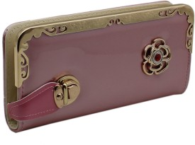 Trendy Women Pink, Gold Artificial Leather Wallet(6 Card Slots)