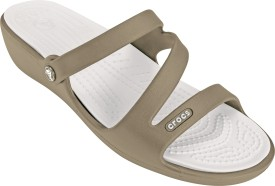 Crocs Women Khaki/Pearl White Wedges
