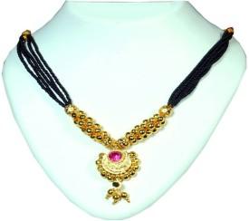 Soubhagya Multicolor Brass Mangalsutra