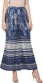 Gerua Regular Fit Women's Blue Trousers