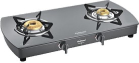 Sunflame Crystal Plus 2B-SS 2 Burner Gas Cooktop