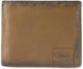 Levi's Men Brown Genuine Leather Wallet(4 Card Slots)