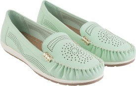 Mochi Stylish Loafers(Green)