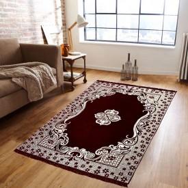 Supreme Home Collective Brown Velvet Carpet(182 cm X 213 cm)