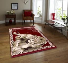 Creative Homes Maroon Velvet Carpet(152 cm X 213 cm)