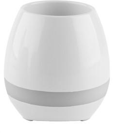 Sicario Moda Smart LED Music Flower Pots Bluetooth Speaker Play The Piano Decoration Planter Night Light Touch Sensors Flower vase speaker Polypropylene Vase(11 inch, Multicolor)