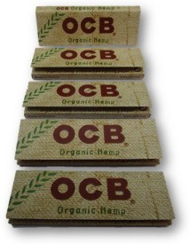 ocb SE Hemp Organic one one by four rolling papers pack of 5 booklets Assorted Hookah Flavor(1 g, Pack of 5)