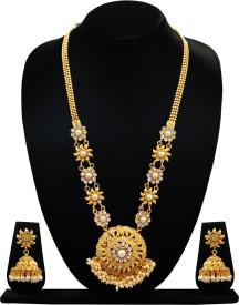 Chetan Arts Jewellery Copper Jewel Set(Gold)