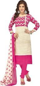 fashion ritmo Cotton Self Design, Printed Salwar Suit Dupatta Material(Un-stitched)
