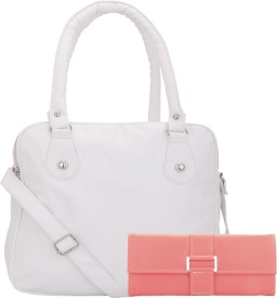 Lady Bar Shoulder Bag(White, Pink)