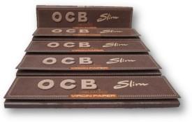 ocb OCB Virgin Unbleached King Size Slim Rolling Papers Pack of 5 Booklets Assorted Hookah Flavor(1 g, Pack of 5)