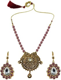 Vidhya Kangan Brass Jewel Set(Multicolor)
