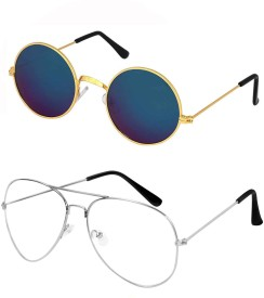 583d2e05a20 Round Sunglasses - Buy Round Sunglasses for Men   Women Online at Best  Prices in India