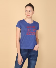 a67b6483f43 Women T-Shirts - Buy Polos   T-Shirts for Women Online at Best Prices In  India