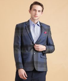 9a334d2f Arrow Checkered Double Breasted Formal Men Blazer