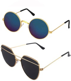 36f518e0c8d9 Round Sunglasses - Buy Round Sunglasses for Men   Women Online at Best  Prices in India