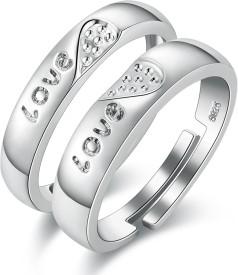 86ed24ddf1d Love Couple Rings - Buy Fancy Love Rings Designs online at Best ...
