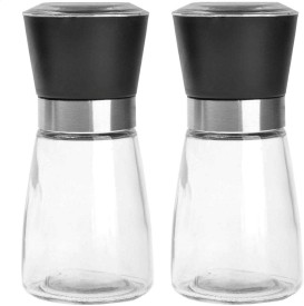 Adjustable Manual Salt /& Pepper Mill Spice Grinder Hand Shaker Cook Set kim